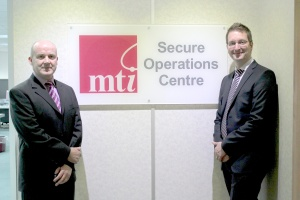 Pictured right our Managed Services Director Simon Walters, and left Tony Conway, Vice President Customer Services