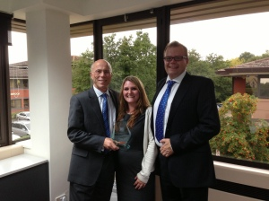 Me with Jessica Bourne and Michael Waddelove from RBS.