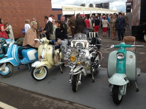 Retro mopeds at Goodwood