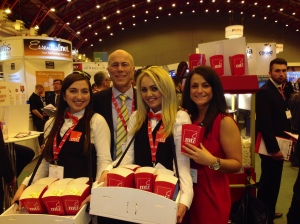 Me with the cinema ushers Lara and Leah and our Marketing Manager Kirsty Lambert