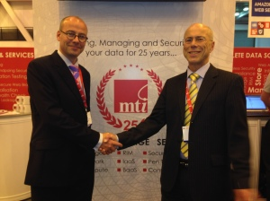 Me with our senior VP of sales Ian Parslow