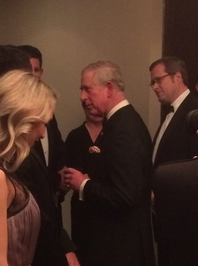 Chris Gould of EMC presents HRH The Prince of Wales