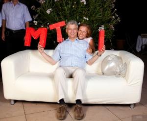 Rainer and Jutta Held, in celebration mode